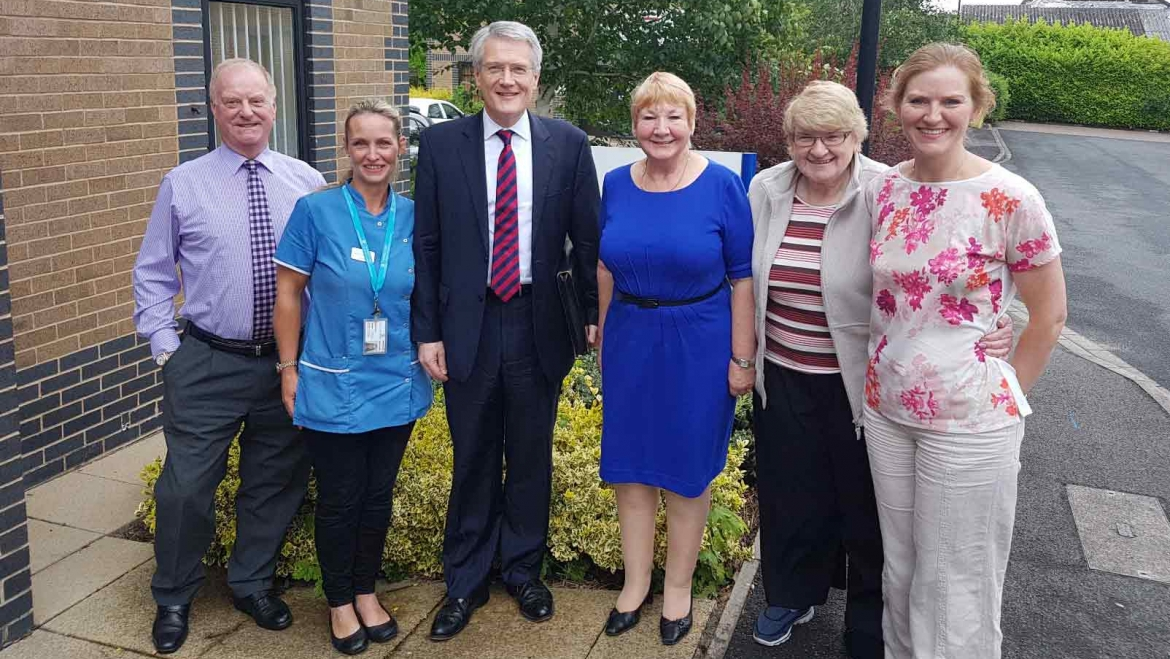 Welcoming Andrew Jones MP to Continued Care