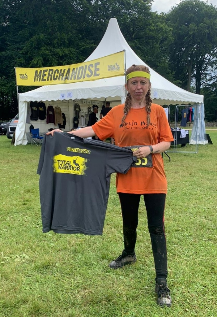 fundraising for Martin House Total Warrior Continued Care Ripon